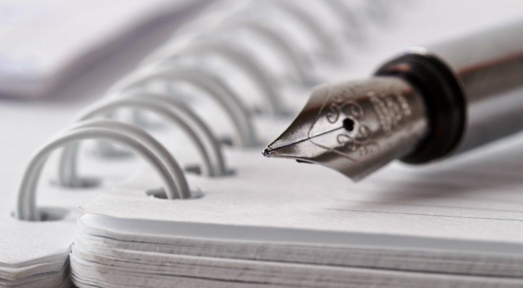Kugelschreiber auf Block